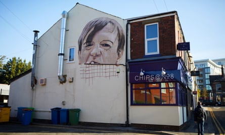 The mural of the Fall frontman Mark E Smith