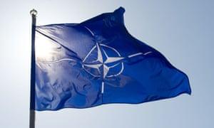 The Nato flag.