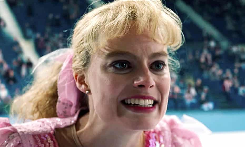 Margot Robbie – with matching outfit and scrunchie – as Tonya Harding in I, Tonya.
