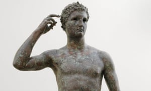 Also known as thhe 'Getty bronze', the statue was made by Greek sculptor Lysippos between 300 and 100 BC.