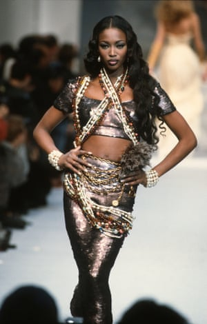 Naomi Campbell for Chanel in Paris, 1992.