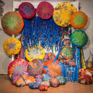 The Embassy of Chromatic Delegates, by Sheila Hicks