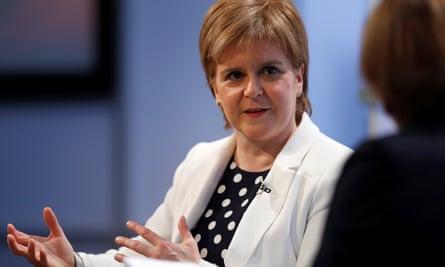 The SNP's Nicola Sturgeon