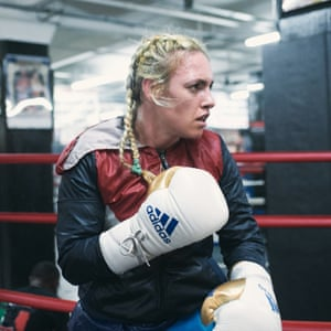 Heather Hardy, holds the WBC International female super-bantamweight title.