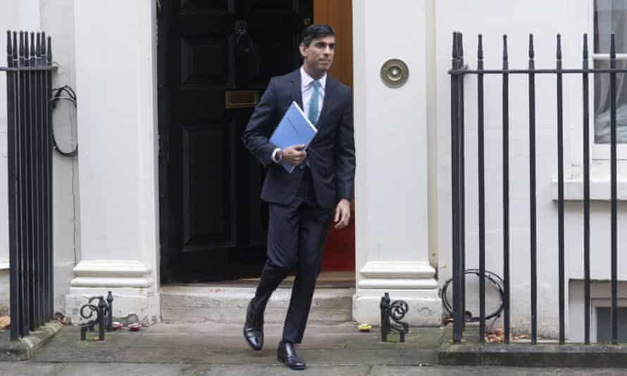 Rishi Sunak on his way to unveil Wednesday's spending review.