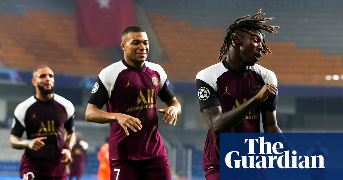 Moise Kean double earns PSG win, Jadon Sancho on the spot for Dortmund