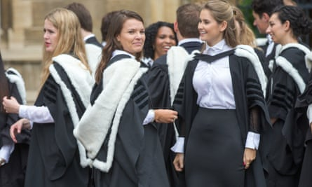 Female students at their graduation ceremony at Cambridge University, 2016