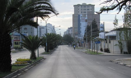 A deserted street in Bolivia.