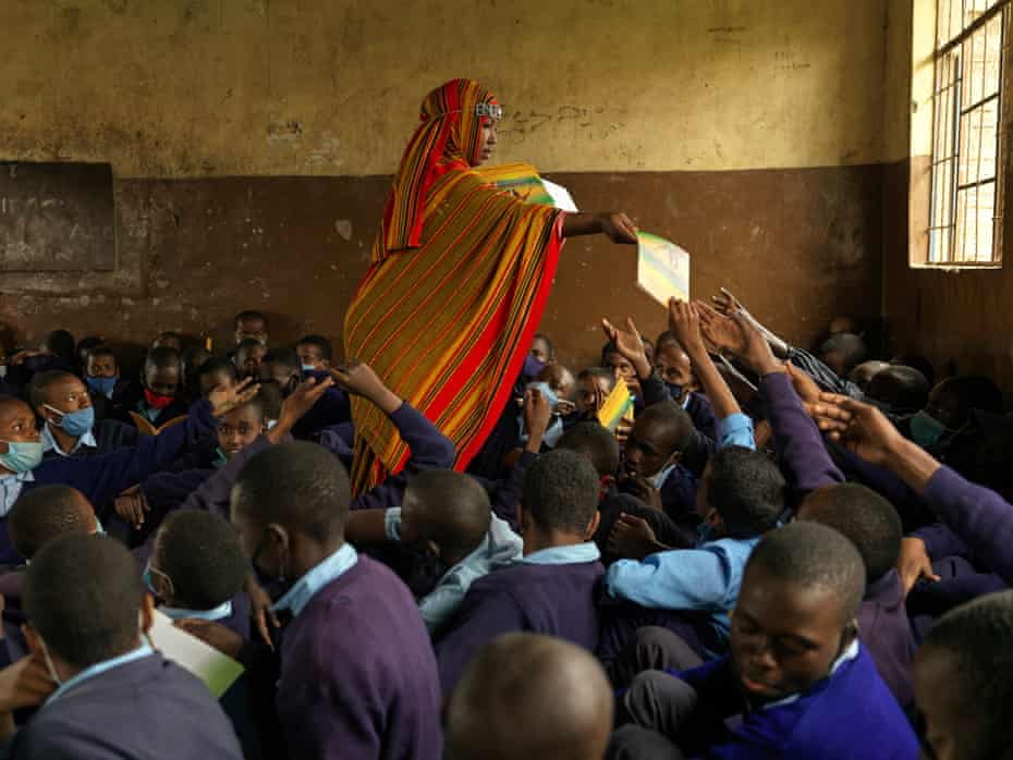 Hussein at work campaigning against FGM in Kenya.