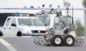 Experts said it may be the first time that a bomb disposal robot, such as the one pictured above, may have been used as a weapon.