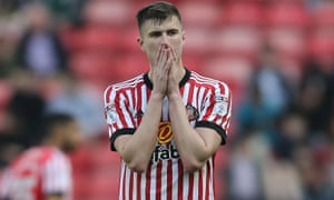 Paddy McNair shows his disappointment as Sunderland drop into League One