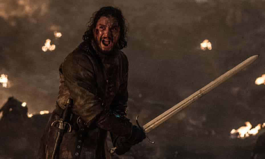 Throwing himself into the line of fire ... Jon Snow in Game of Thrones.