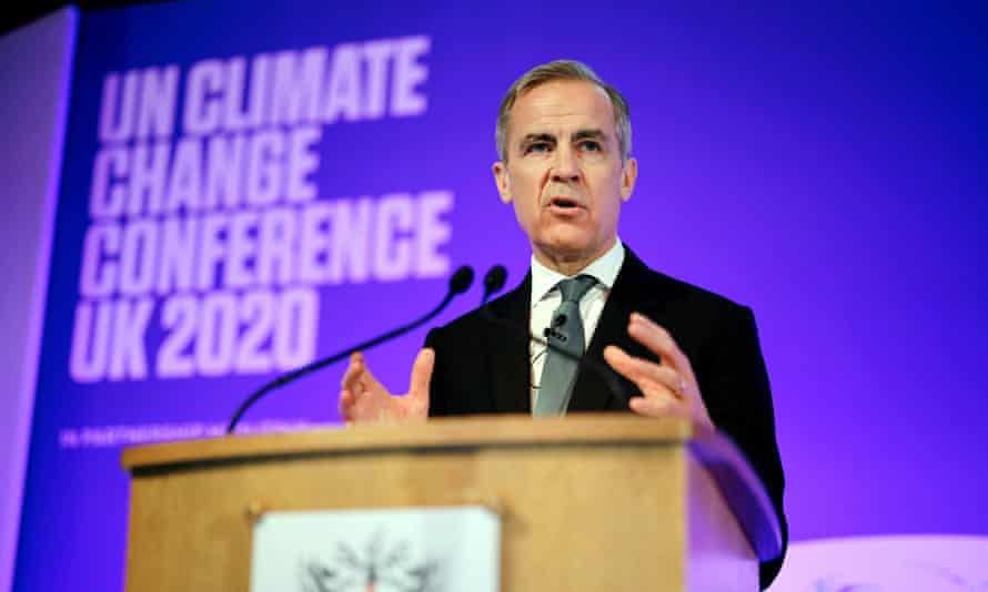 Mark Carney, former governor of the Bank of England at the UN climate change conference in 2020