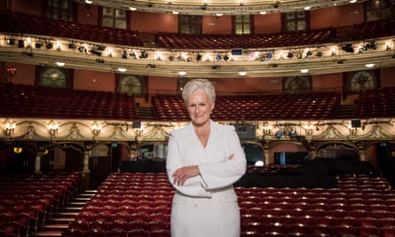 Glenn Close poses during a photocall for Sunset Boulevard, at the Coliseum theatre in London.