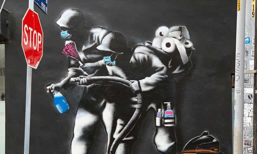 A piece by Hijack Art in Los Angeles