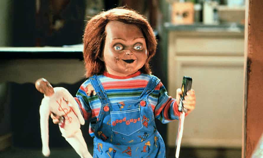 Chucky, the cursed doll from the slasher movie series Child's Play.