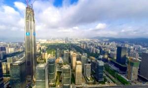 The Shenzhen skyline