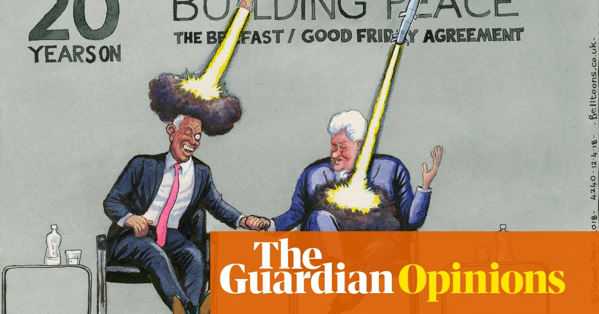 Steve Bell On The Good Friday Agreement 20 Years On Cartoon