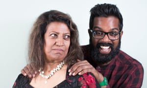 ' She told me she hadn't seen my kids for ages. It was three days' ... Romesh Ranganathan with his mum, Shanthi.