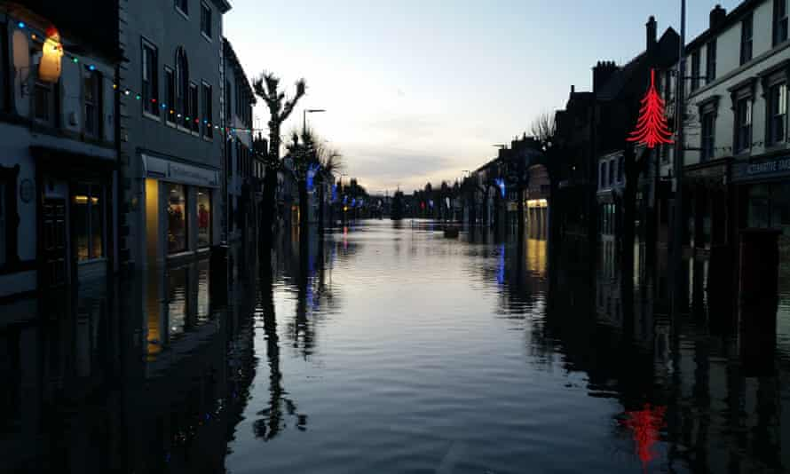Flooded street in Cockermouth on Saturday 5 December.