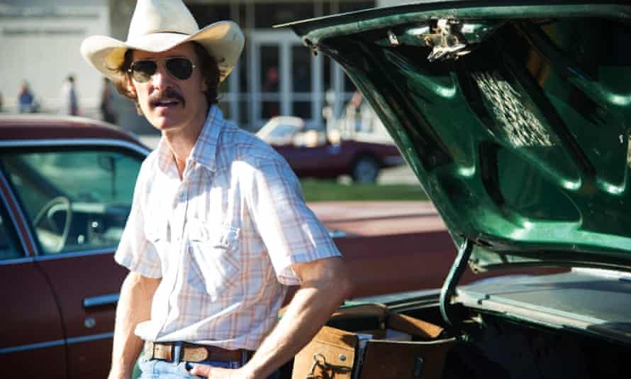 Matthew McConaughey as Ron Woodroof in Dallas Buyers Club.
