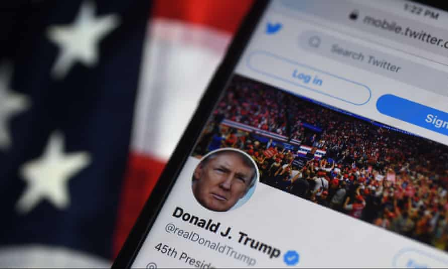 Donald Trump's tweets often inspired ridicule and anger but also posted content that was racist and dangerously provocative.