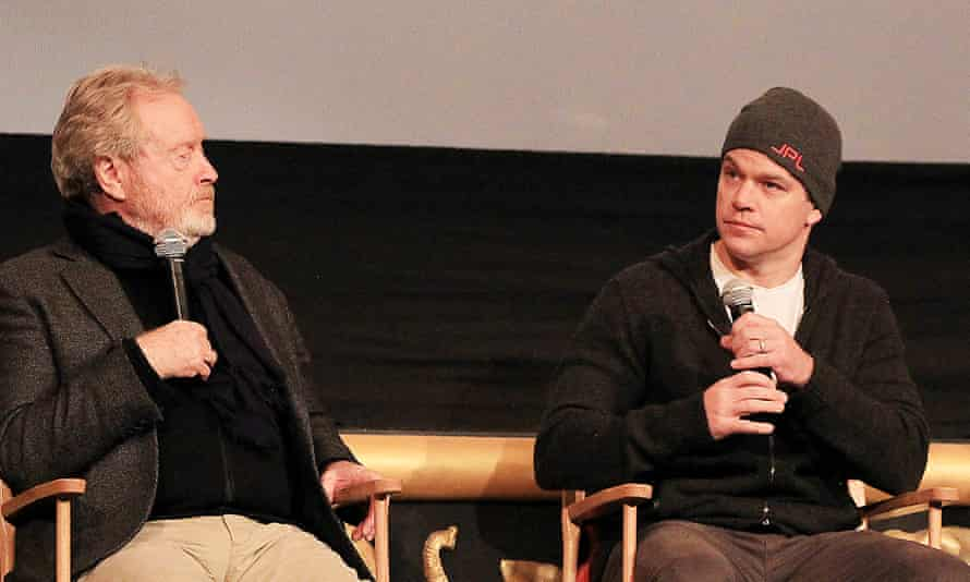 Ridley Scott and Matt Damon, director and star of The Martian, share their thoughts on stage.