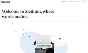 Medium is a popular light blogging platform.