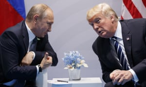 Putin and Trump at the G20 summit in Hamburg, 7 July 2017.