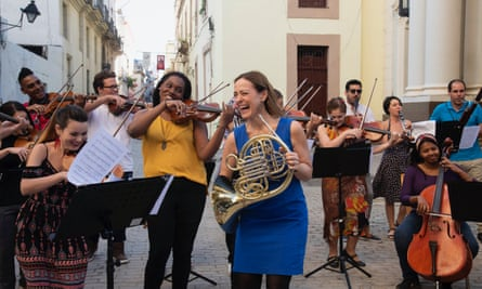Sarah Willis and friends in Havana.