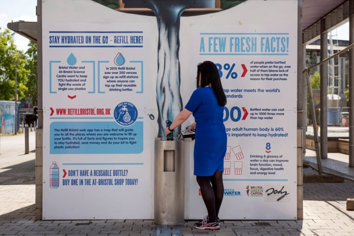 The Bristol refill-reuse bottle campaign that is spreading across Europe    Environment   The Guardian