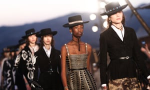 aa6fe8fdf Ponchos, denim and lots of fringing: Dior does prairie chic for top ...