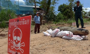 Cambodia is littered with unexploded mines left over from the country's civil war but casualty figures have been reduced due to international clearing efforts.