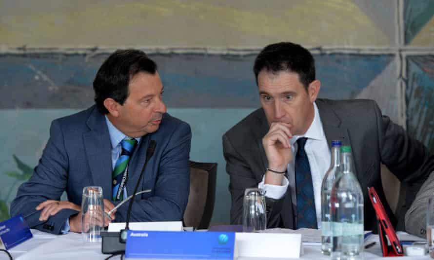 Cricket Australia bosses David Peever and James Sutherland