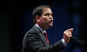 Republican Candidates Speak At Sunshine Summit In Orlando<br>ORLANDO, FL - NOVEMBER 13: Republican presidential candidate Sen. Marco Rubio (R-FL) speaks during the Sunshine Summit conference being held at the Rosen Shingle Creek on November 13, 2015 in Orlando, Florida. The summit brought Republican presidential candidates in front of the Republican voters. (Photo by Joe Raedle/Getty Images)