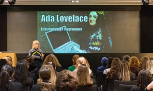Sarah Simonon, Head of product, discovery and user experience kicks of Digital Development's Ada Lovelace Day at the GNM Education Centre.