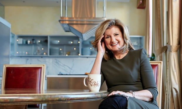Arianna Huffington drinking hot water as he morning successful habit