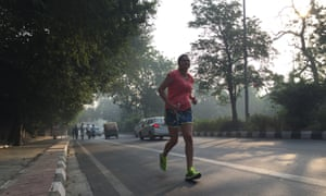 A road runner on Delhi's polluted streets