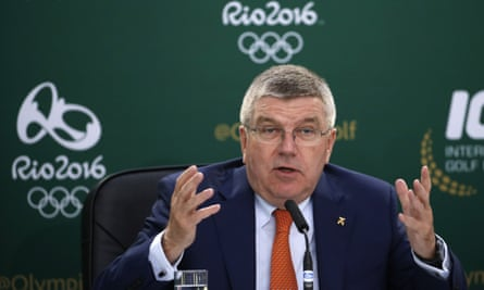 The International Olympic Committee president, Thomas Bach