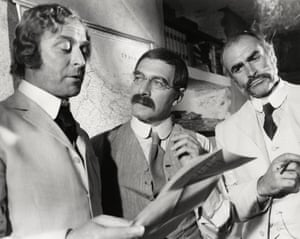 Michael Caine, Christopher Plummer, who played Rudyard Kipling and Sean Connery in The Man Who Would Be King, 1975