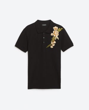 Black and rose polo shirt