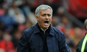 José Mourinho reacts during the Manchester United's home defeat to Manchester City in September.