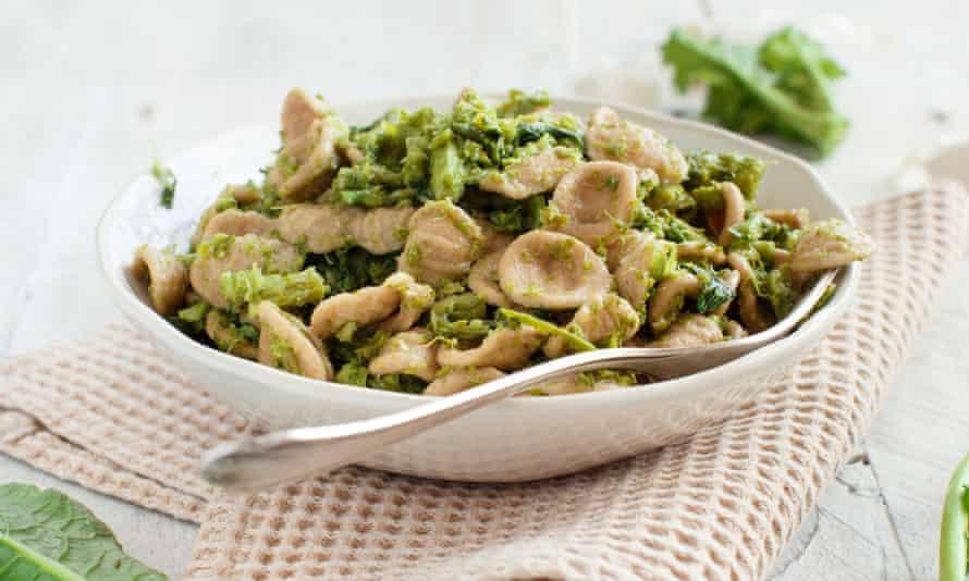 Orecchiette with turnip greens.