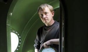 Peter Madsen inside his submarine in 2008.