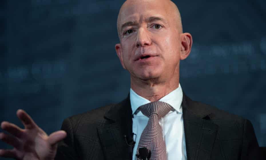 Jeff Bezos, the Amazon founder and owner of Blue Origin.