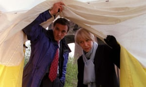 Oh-so-human … Helen Mirren as DSI Jane Tennison with Ben Miles as DCI Finch in Prime Suspect.