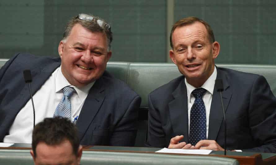 Craig Kelly with Tony Abbott.