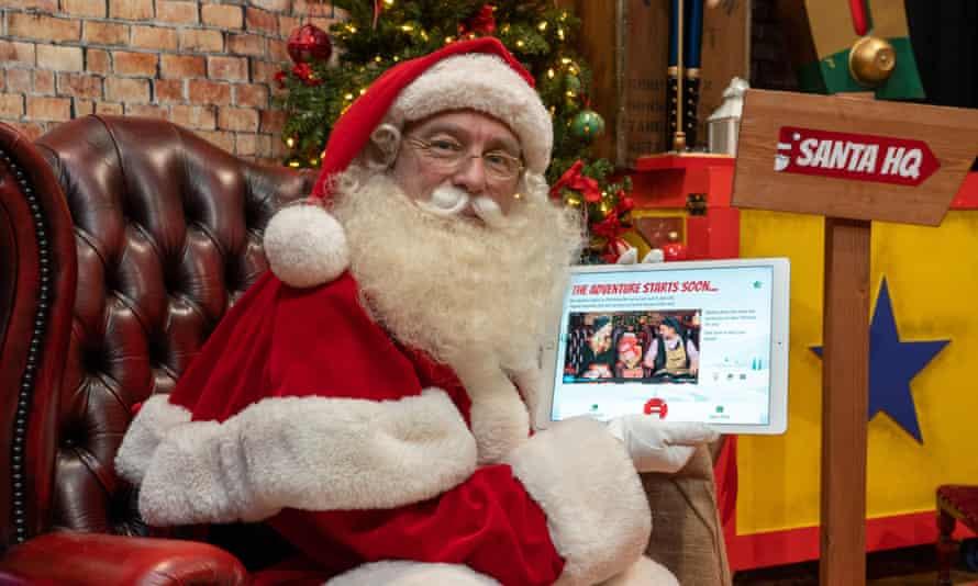 Wikipedia inventor Jimmy Wales as Santa