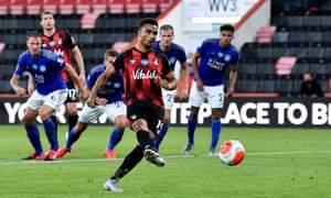 Bournemouth's Junior Stanislas scores from the spot.