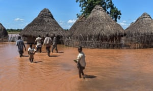 Flooding in the Tana river area of Kenya in 2018, when 60,000 people were forced to move home.